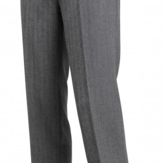 The Lennon Frock Trousers - Grey Herringbone
