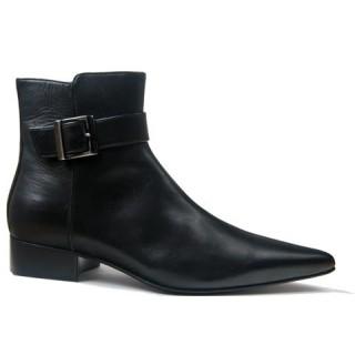 1960 Winkle.Picker : Adam - Black Buckle Boot