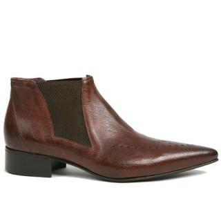 1960 Winkle.Picker : Carl - Antique Tan Ankle Boot
