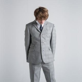 Reduced Price : The Prince Of Wales Check Mod Trousers -  Grey