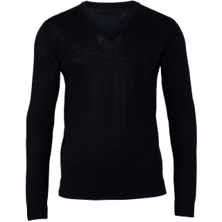 Last One : XXL Rory Black V Neck Jumper