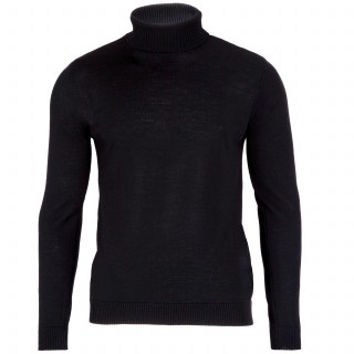 Geno Black Roll Neck Jumper