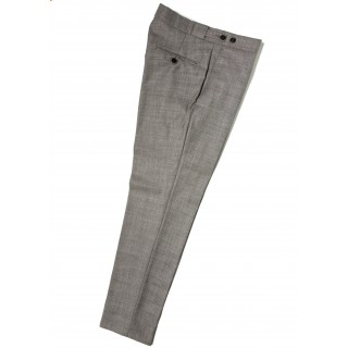 *Final Sale : The Chesterfield Trousers - Silver Grey Drainpipe