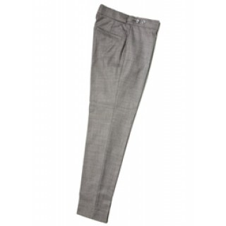Sale : The Collarless Trousers - Silver Grey