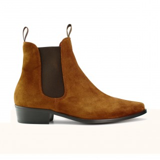 Sale : Classic Boot - Tan Suede