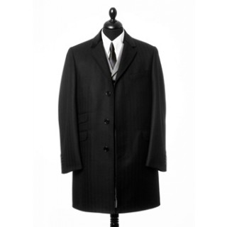 The Chesterfield Overcoat  - Black