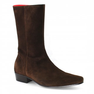 Discontinued Colour : Low Lennon Boot - Chocolate Suede