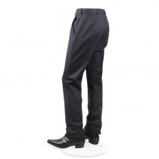 Reduced Price : The Lennon Mod Trousers -  Navy Blue Pinstripe Drainpipe