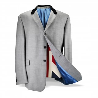 Sale : The Chesterfield Jacket - Silver Grey