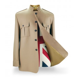 Shea Stadium Nehru Jacket (Beatles) - Tan