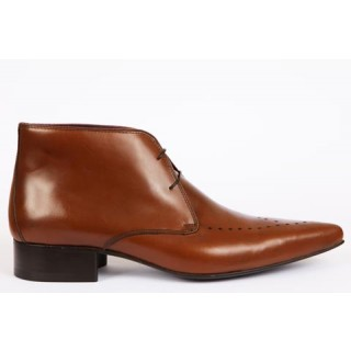 1960 Winkle.Picker : Cliff - Tan Ankle Boot