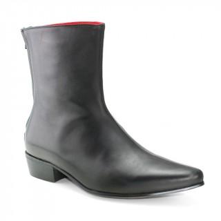 Sale : Back Zip Boot - Black Calf Leather-46.5 (UK 12.5 / US 13)