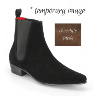 Reduced Sale Price : Low Cavern Boot  - Chocolate Suede