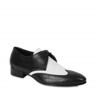 The Monochrome Shoe - Back & White Leather