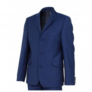 The London Mod Suit - Vibrant Blue