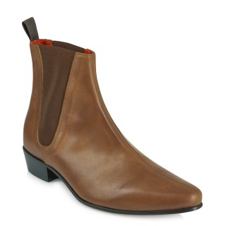 Low Cavern Boot - Vintage Tan Leather