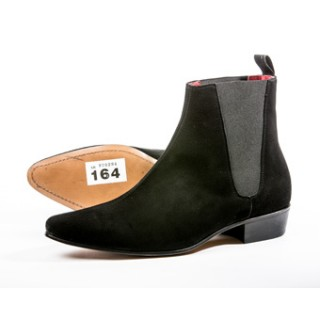 Clearance Lot 164 - Low Cavern Boot Black Suede Size 45