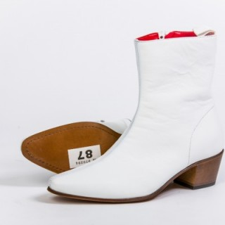 Clearance Lot 87 - Zip Boot White Calf Size 41