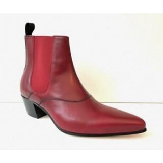 Winkle Picker Boot - Blood Red