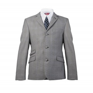 Sale Price : The Prince Of Wales Check Mod Suit - Grey