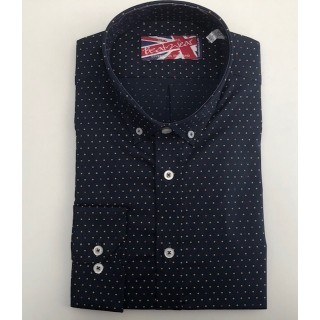 "Sample Sale : Navy Polka Dot Shirt - Chest 42"""