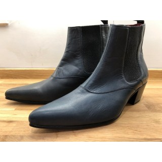 Ex-Display: Winkle Picker Blue Leather Size Euro 40