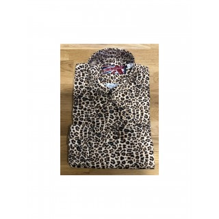 Sample Sale : Leopard - Long Pointed SGL Cuff Shirt