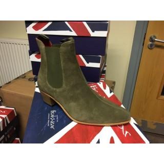 Original Chelsea Boot - Green Suede