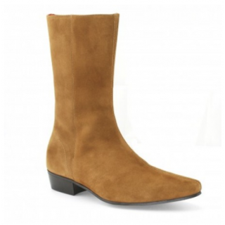 Sale : Low Lennon Boot - Tan Suede-47.5 (UK 13.5 / US 14)