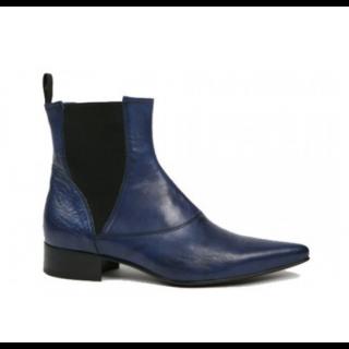 Men's 1960 Winkle.Picker : BO Blue High Gusset Boot Size 40