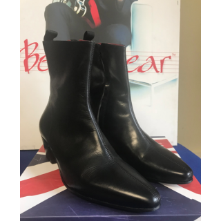 Clearance Lot 182 - Zip Boot Black Calf Size 44