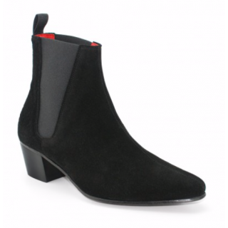 Beatwear Bargain : High Cavern Boot in Black Suede