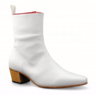 Beatwear Bargain : Zip Boot in White Leather EU 41.5