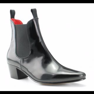 Stock shot of Beatwear Original Chelsea Black Hi-Shine Leather