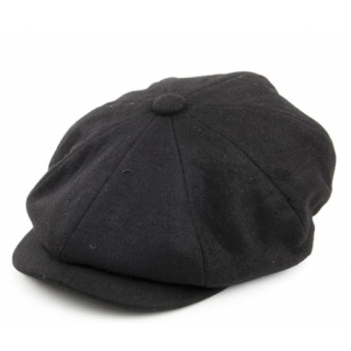 Black Bakerboy Hat - Medium