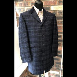Sample Sale : Blue Check Lennon Frockcoat Jacket 40R
