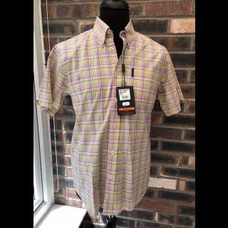 60's Outlet - Ben Sherman Shirt Yellow Check Size Medium