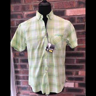 60's Outlet - Lambretta Shirt Lime Check Size Medium