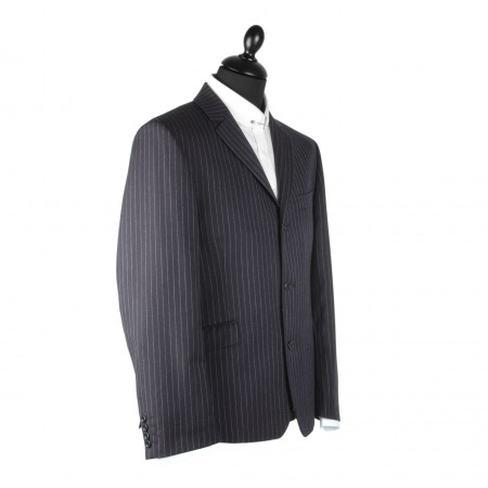 Clearance Price : The Lennon Mod Suit - Navy Pinstripe