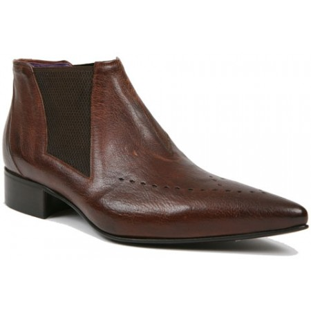 1960 Winkle.Picker : Carl - Antique Tan Ankle Boot