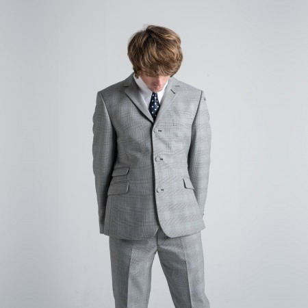 *Final Sale : The Prince Of Wales Check Mod Trousers -  Grey