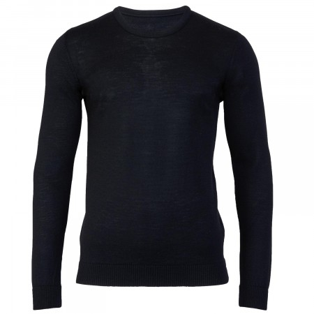 Eddie Black Crew Neck Jumper