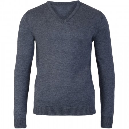 Rory Charcoal V Neck Jumper