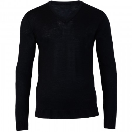 Rory Black V Neck Jumper