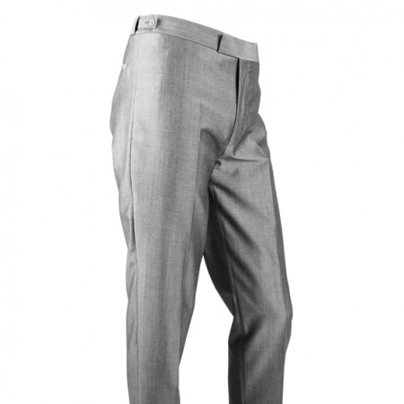 *Final Sale : The Hard Days Night Trousers - Silver Grey Sheen Drainpipe