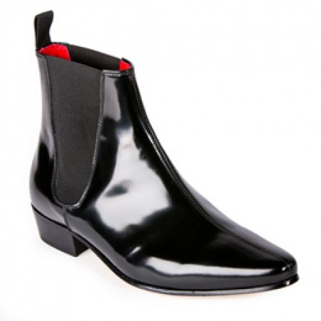 Reduced Sale Price : Low Cavern Boot - Black Hi Shine