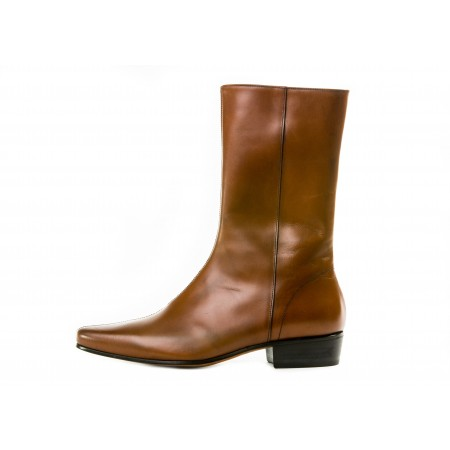 Sale : Low Lennon Boot - Vintage Tan Calf