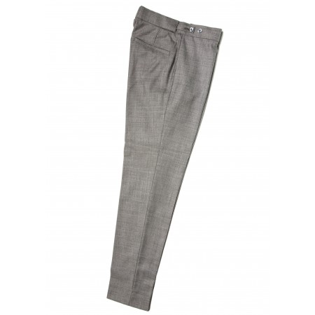 The Collarless Trousers - Silver Grey Drainpipe