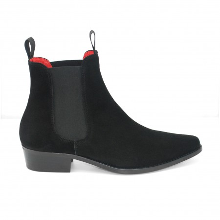 Classic Boot - Black Suede