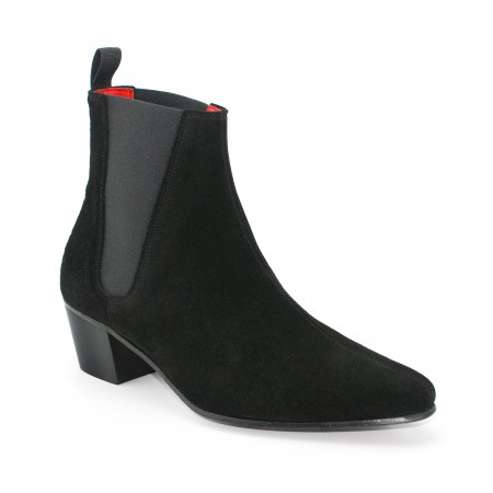 Discontinued Finish : High Cavern Boot - Black Suede